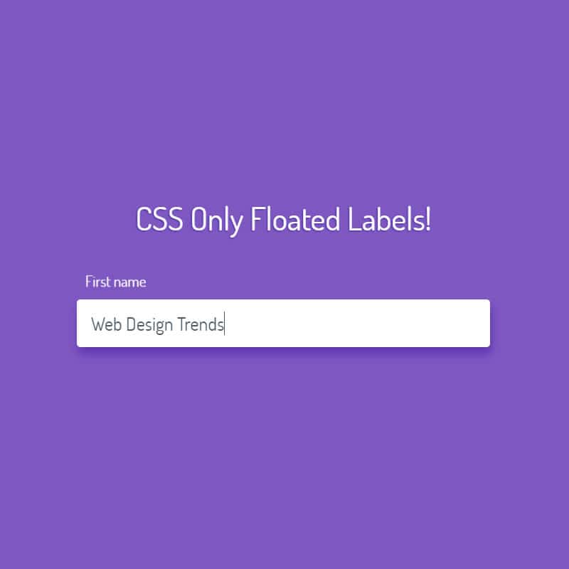 CSS Only Floated Labels