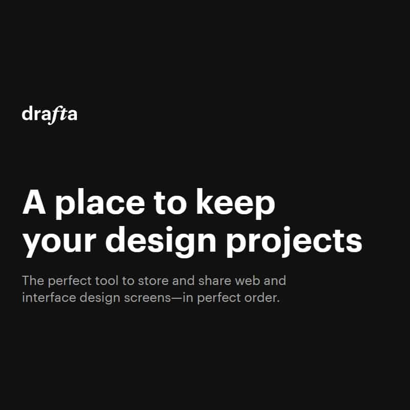Drafta - a place to keep your design projects