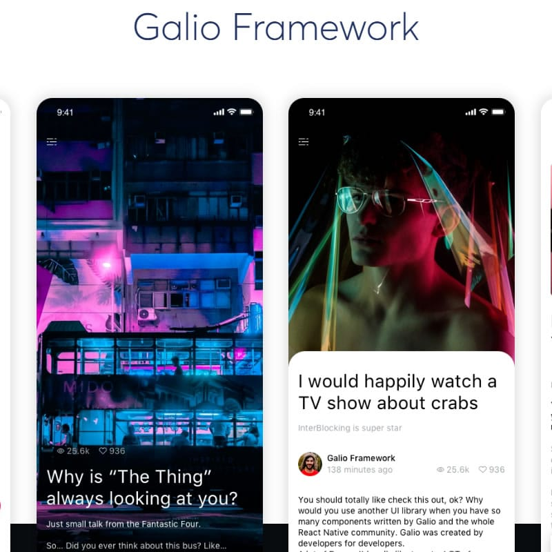 Galio - React Native Framework