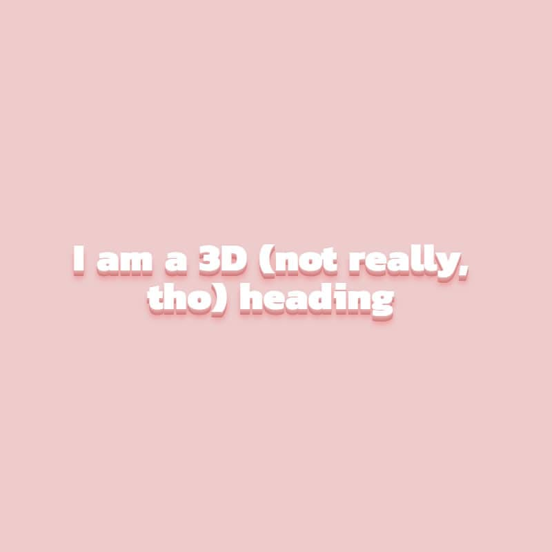 3D Mixin Text Effect