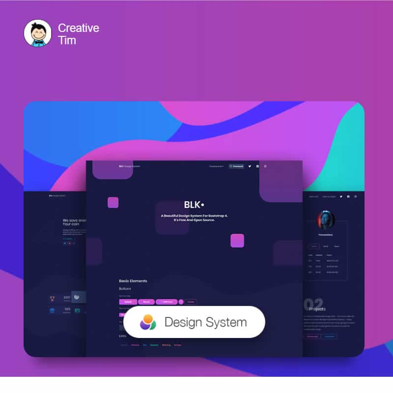 Free Design System for Bootstrap 4