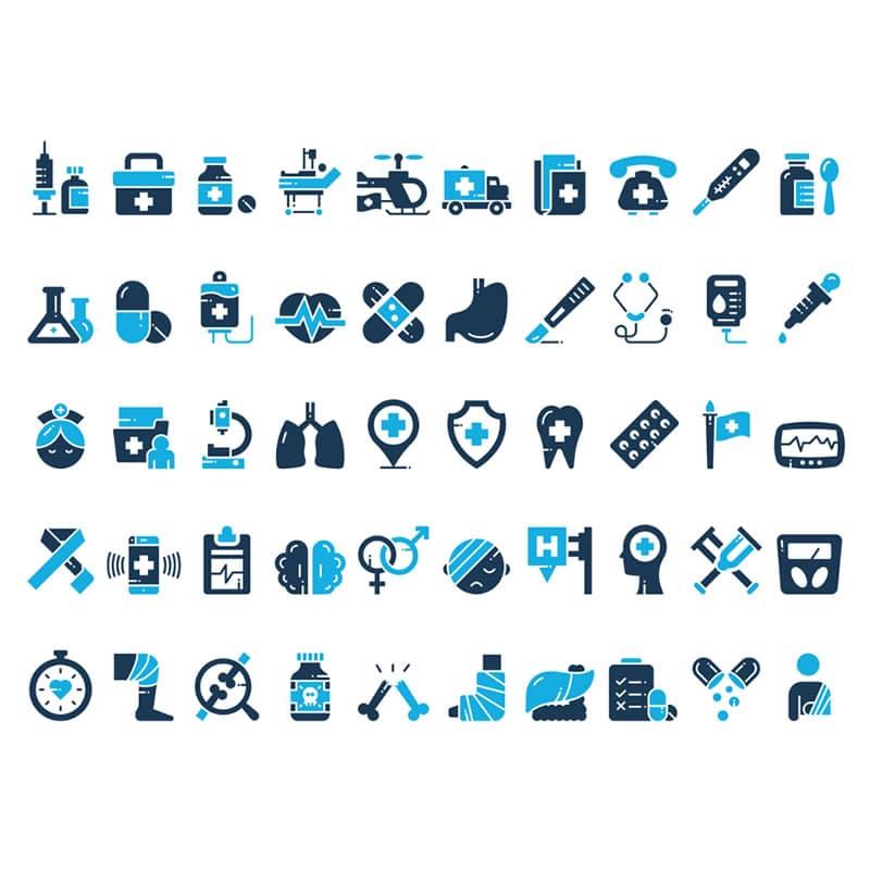 Medical set icon
