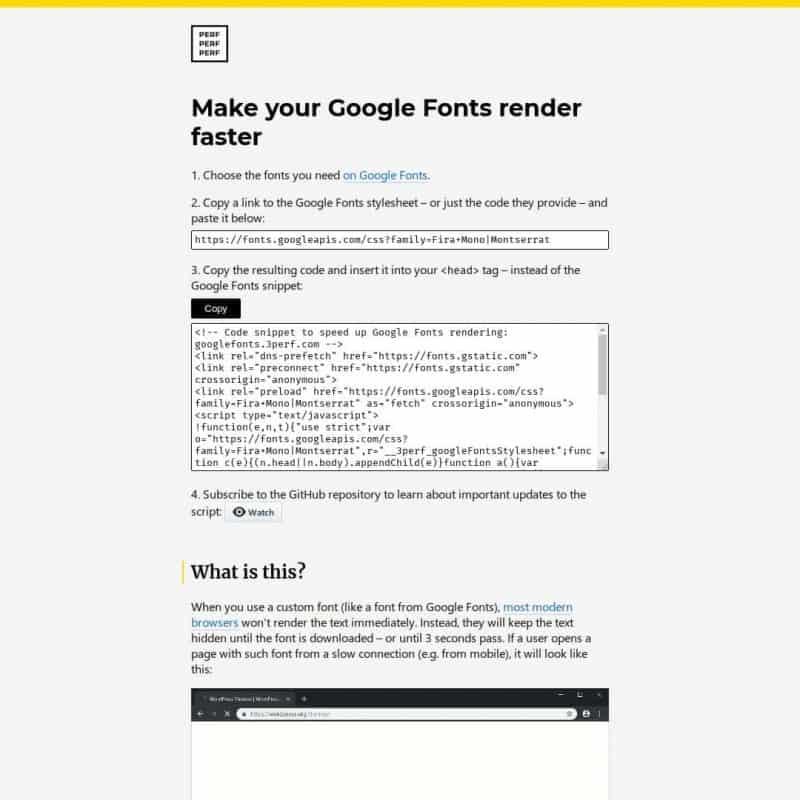 Make your Google Fonts render faster