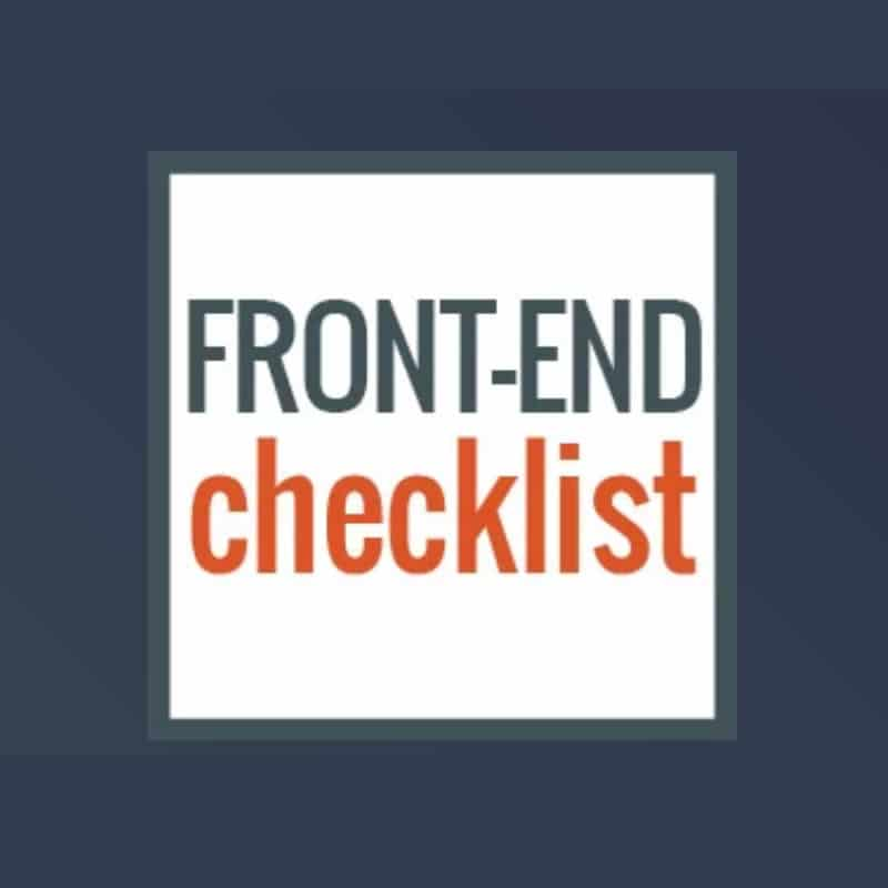 Front-End Checklist