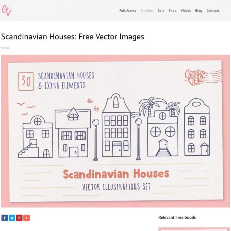 Scandinavian Houses: Free Vector Images