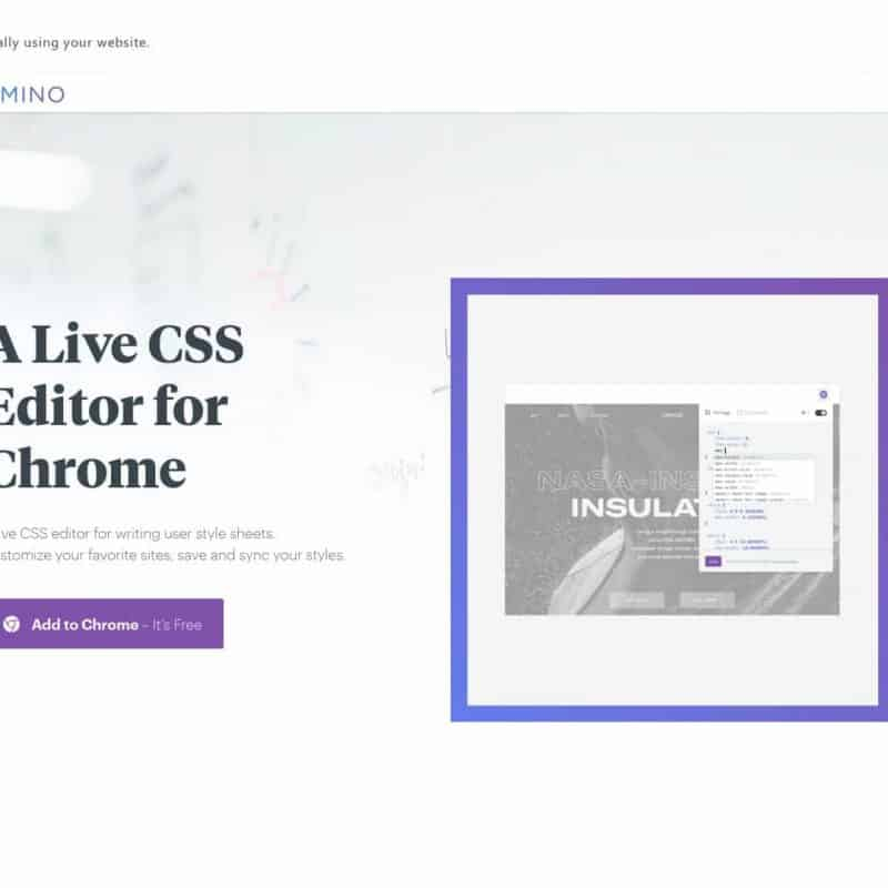 A Live CSS Editor for Chrome