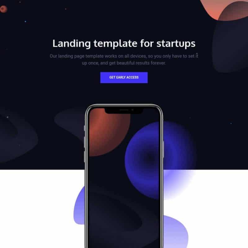 Venus - landing page template