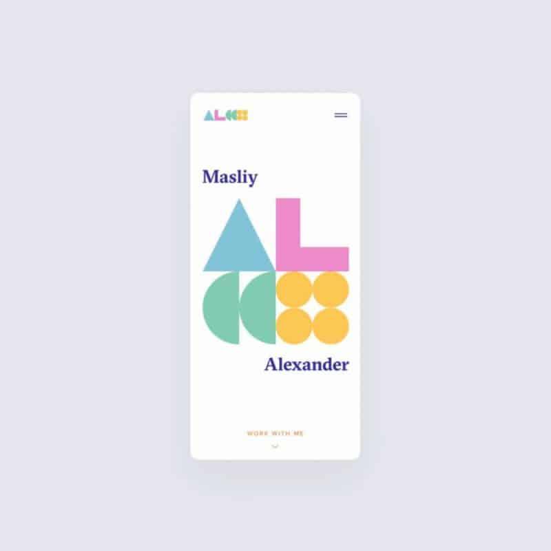 Personal portfolio mobile
