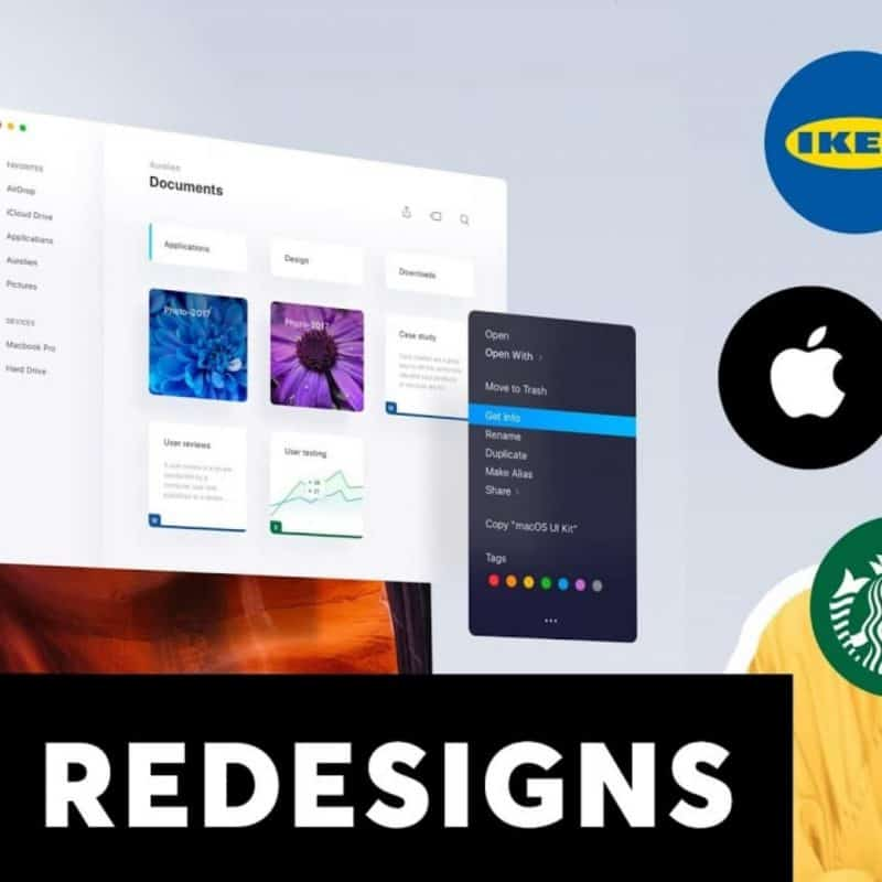 UI/UX Redesigns (Apple, Google, IKEA...)