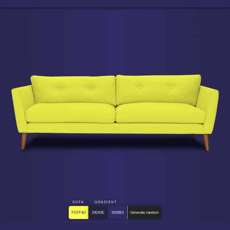 Color this sofa! – SVG + Blend Mode trick