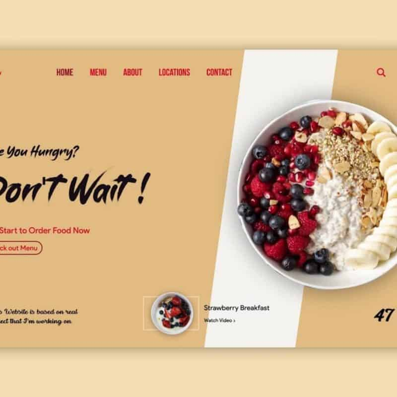 How to Design Ordering Food Website UI