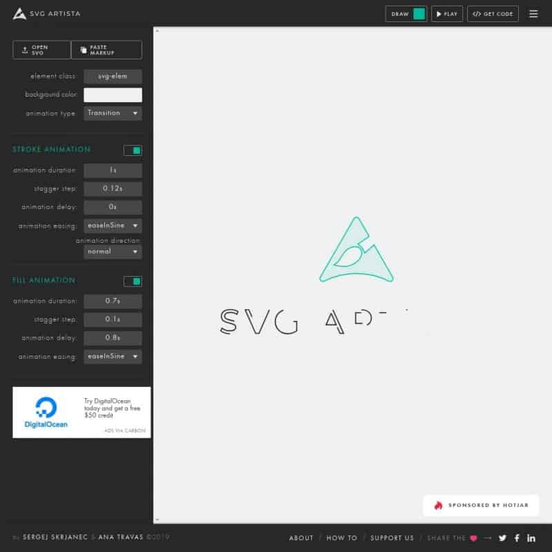 SVG drawing animation tool