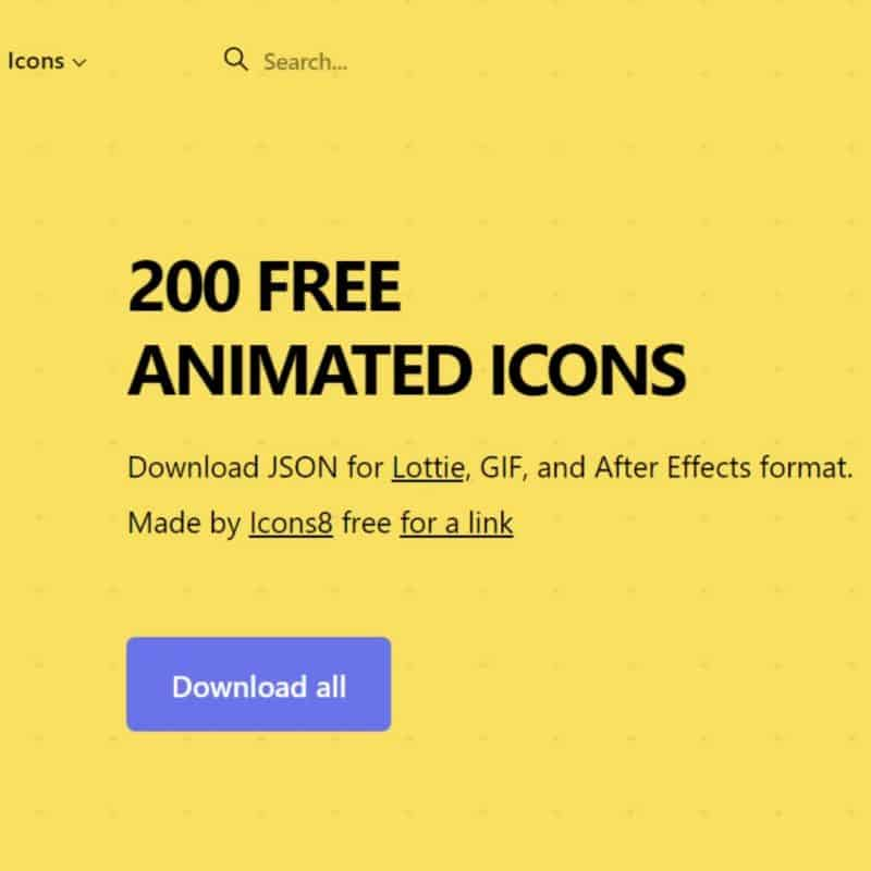 Animated Icons - Free Icons