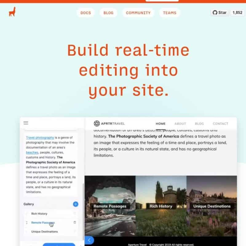 Build real-time editing into your site