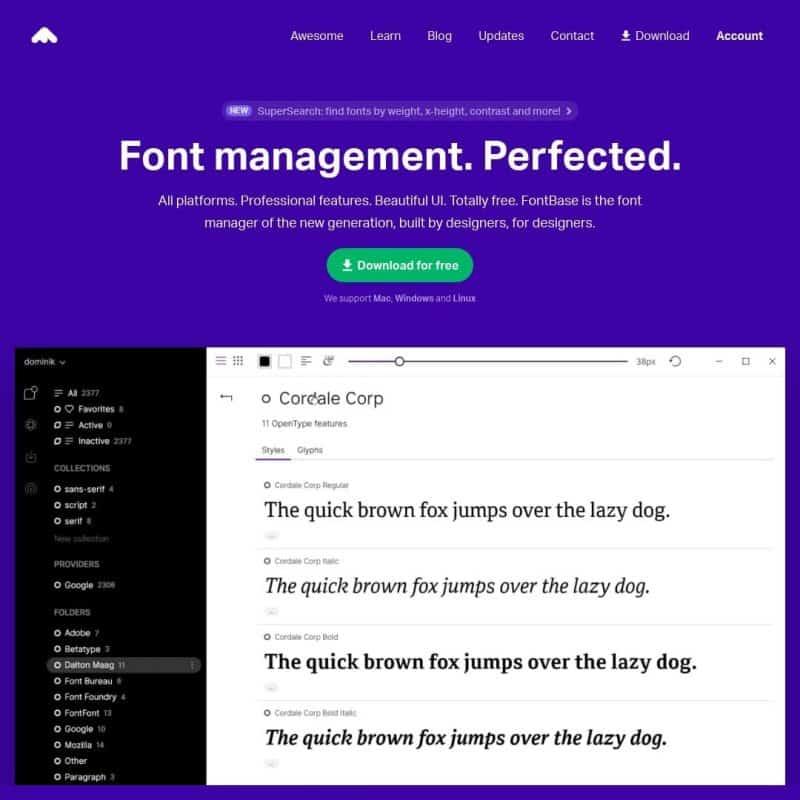 Font management