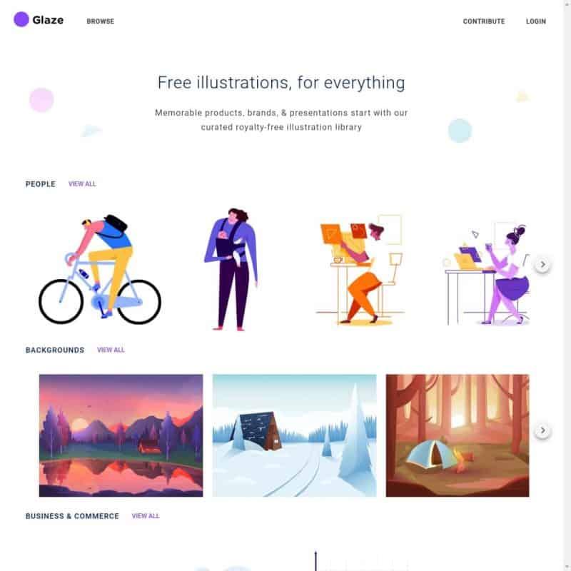 Free illustrations - Glaze