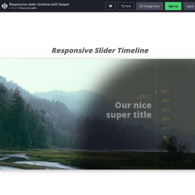 Responsive slider timeline