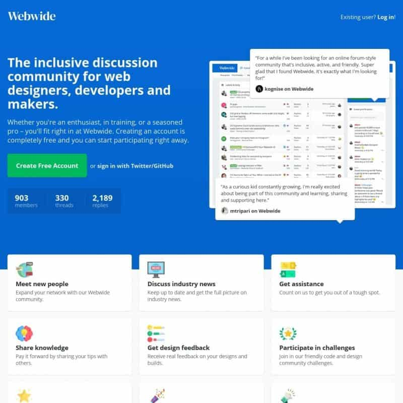 Web Wide - Community for Web Designers