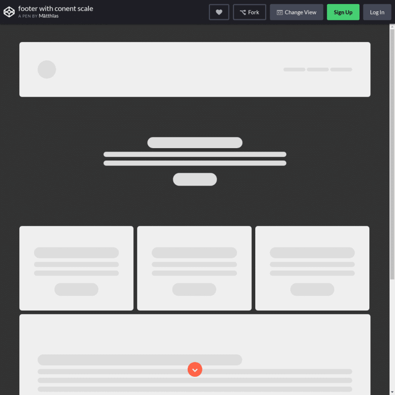 Footer with content scale