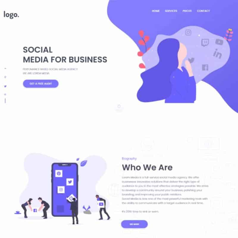 Landing Page For Marketing Agency