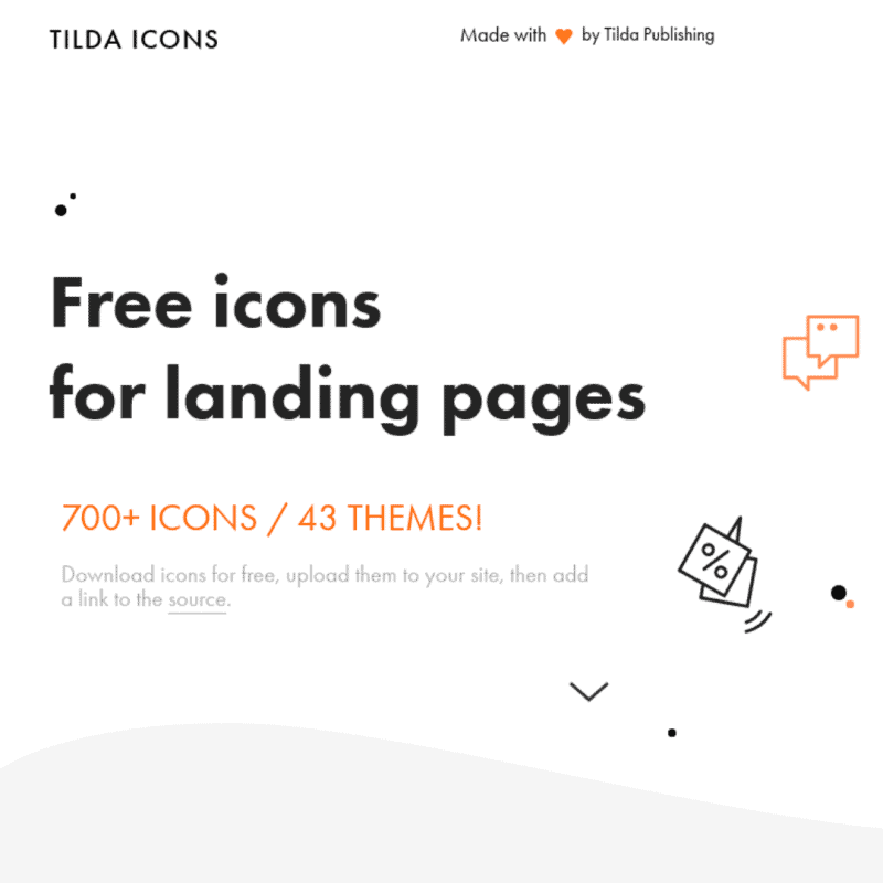 Free icons for landing pages