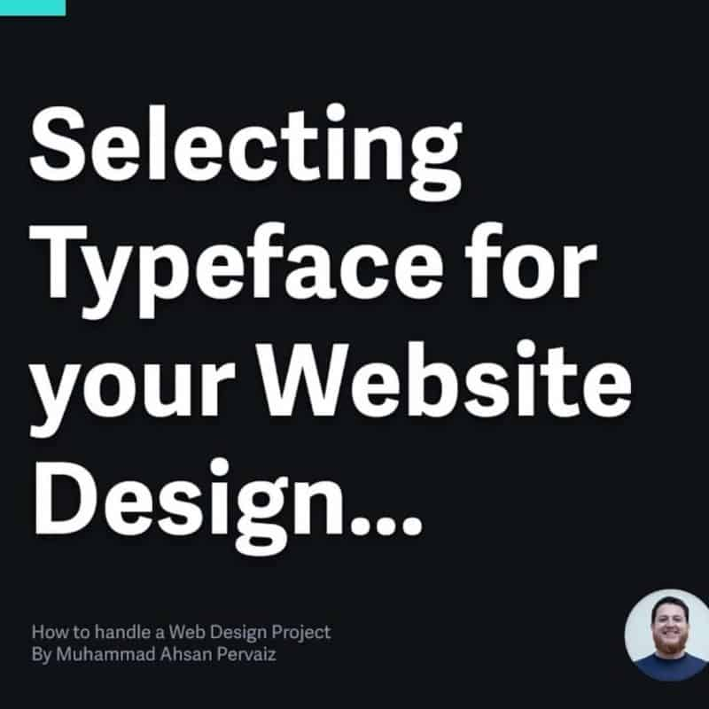 Select the right typeface (fonts) for Web Design