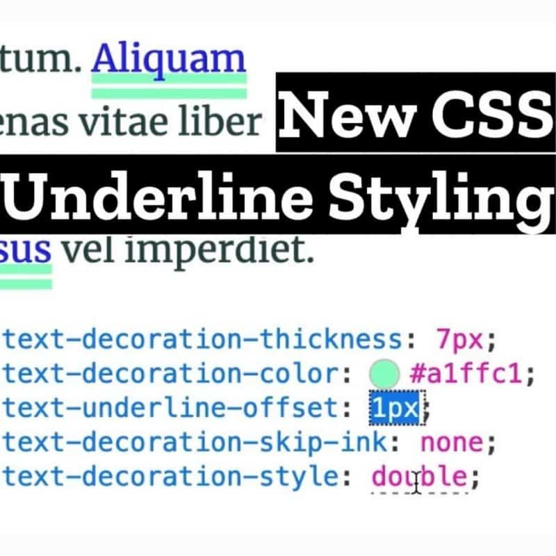 New CSS for Styling Underlines on the Web