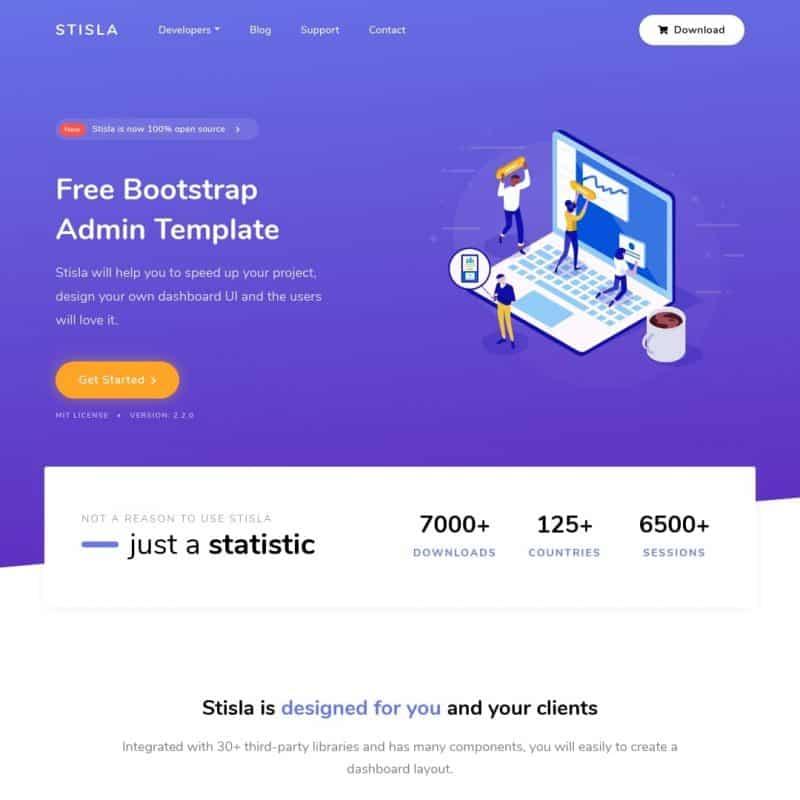 Free Bootstrap Admin Template - Stisla