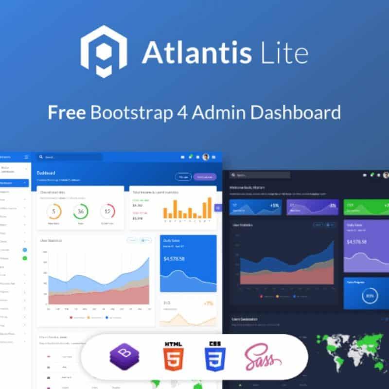 Atlantis Lite Bootstrap Dashboard