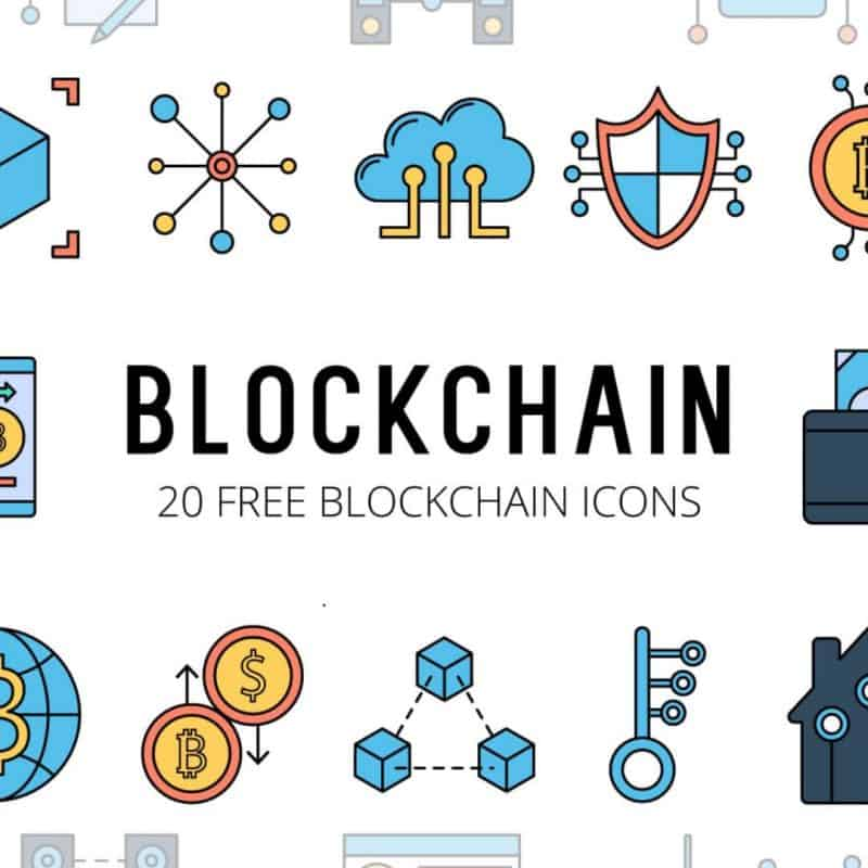 Blockchain Vector Free Icon Set