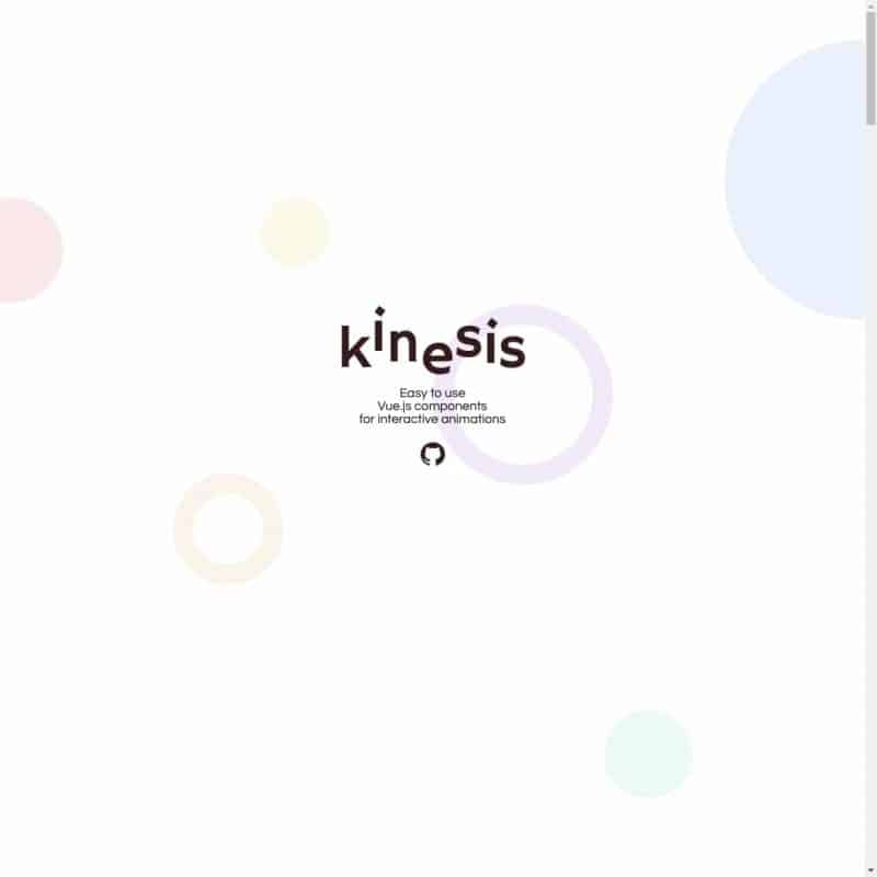 Kinesis - vue.js components for interactive animations