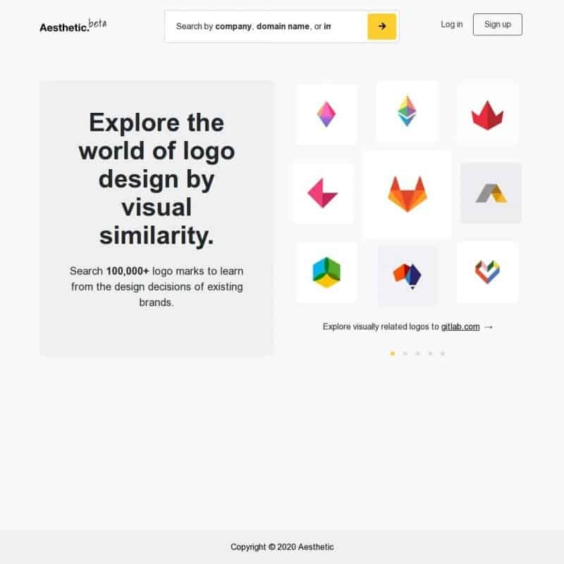 Explore the world of logo design by visual similarity