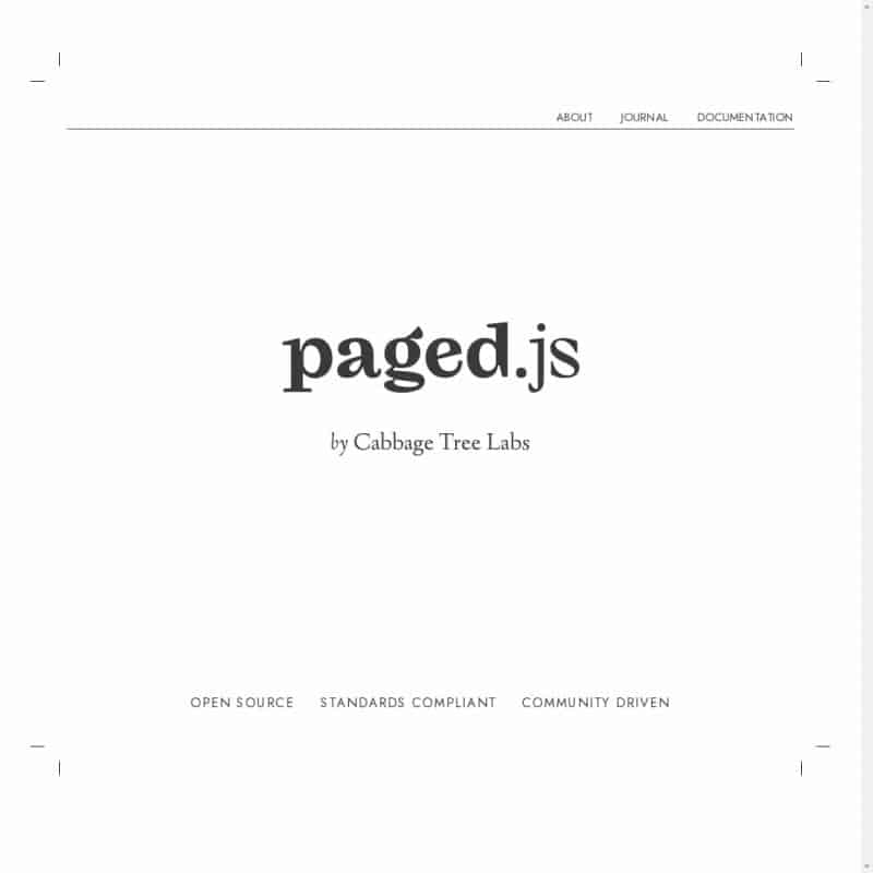 Paged.js - create PDF output from any HTML content