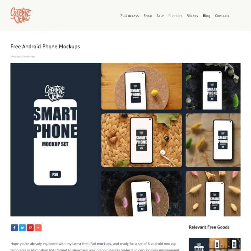 Free Android Phone Mockups