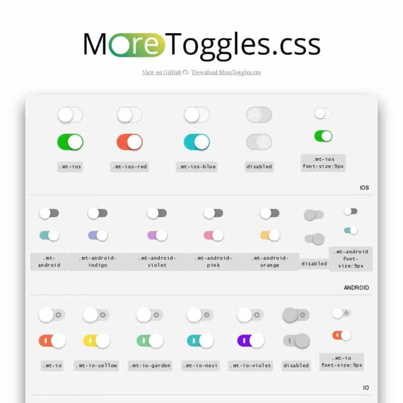 MoreToggles.css - nice-looking toggles.