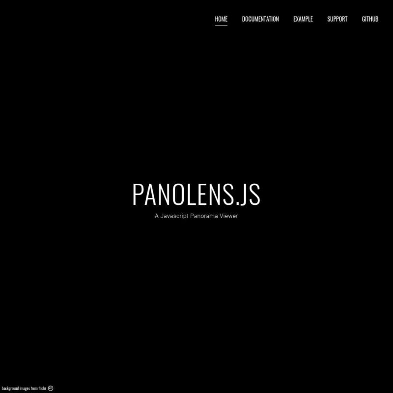 Panolens.js - Javascript 360 Panorama Viewer