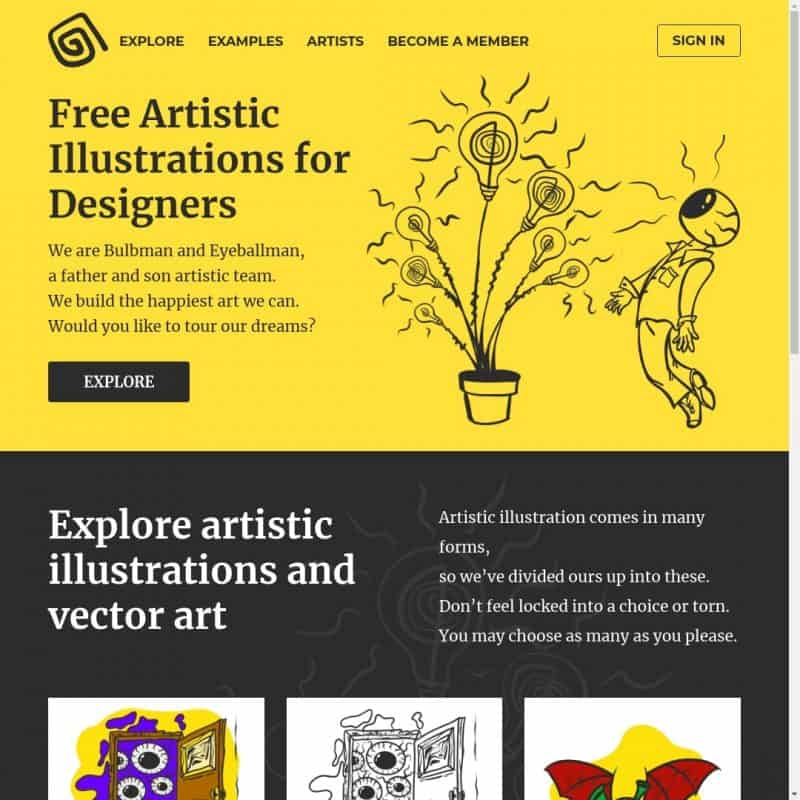 Free Artistic Illustrations for Designers
