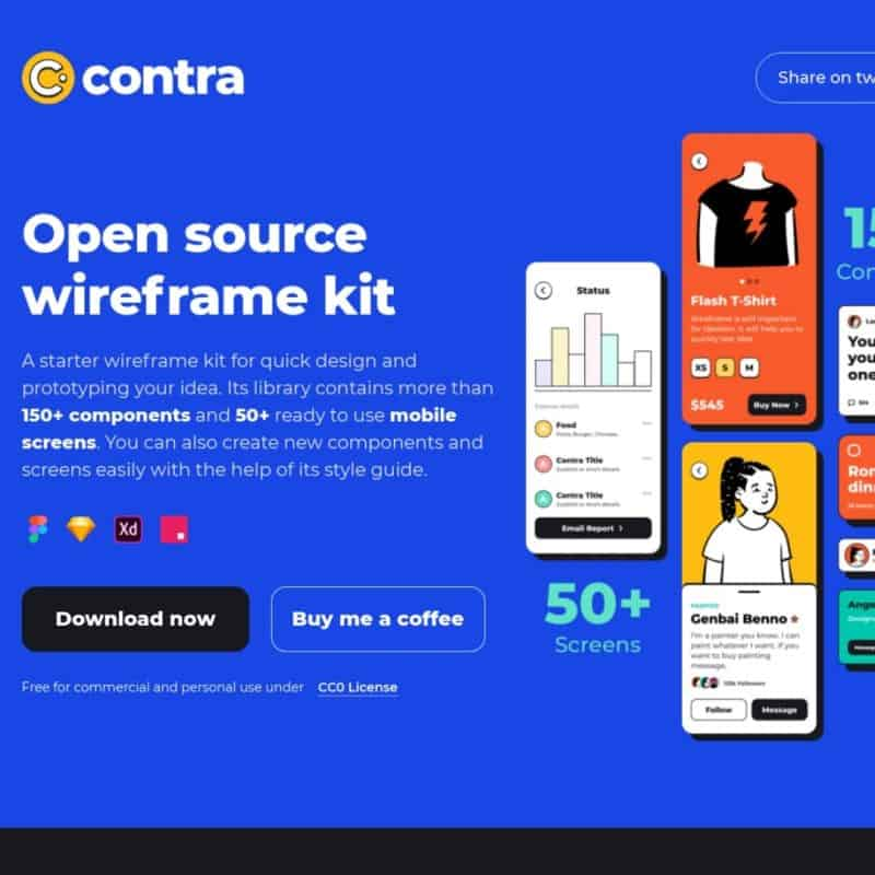 Open source wireframe kit