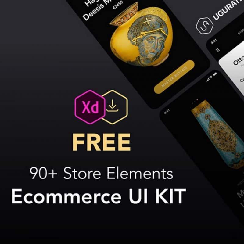 90+ Store Elements & eCommerce Xd UI Kit