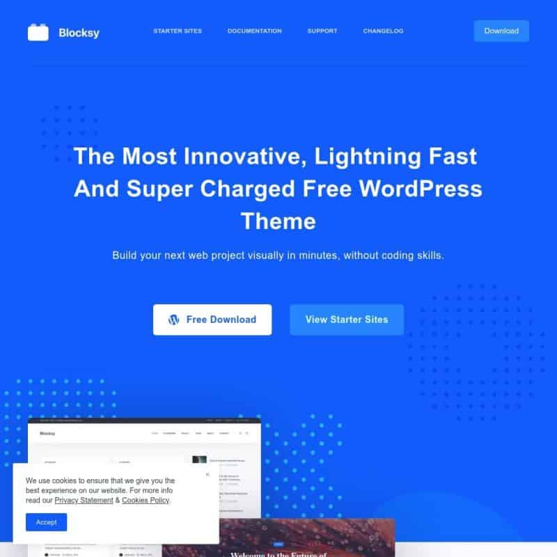 Free Premium WordPress Gutenberg Theme - Blocksy