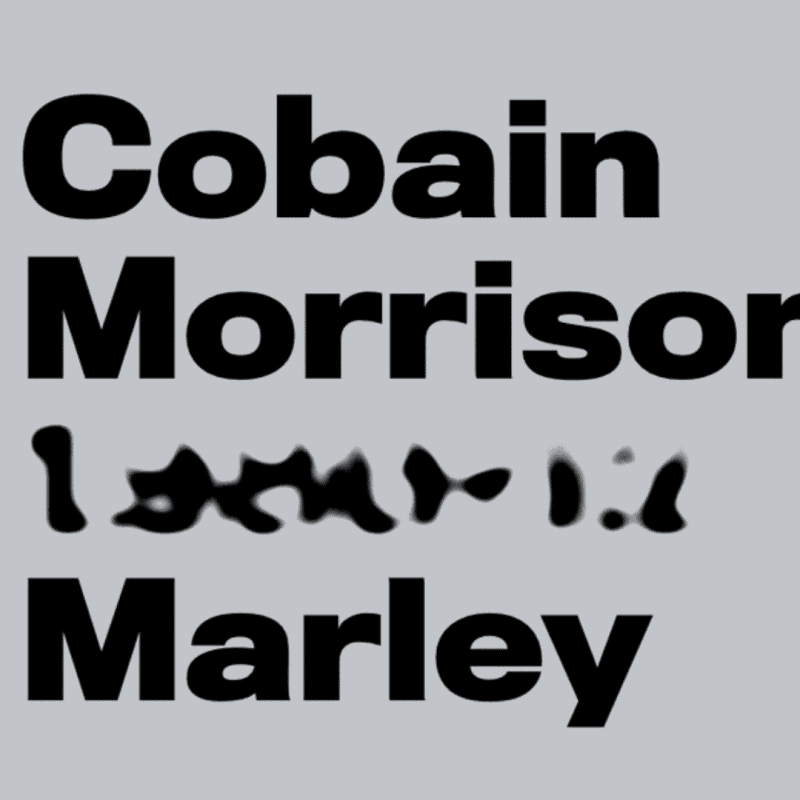 Morphing Gooey Text Hover Effect