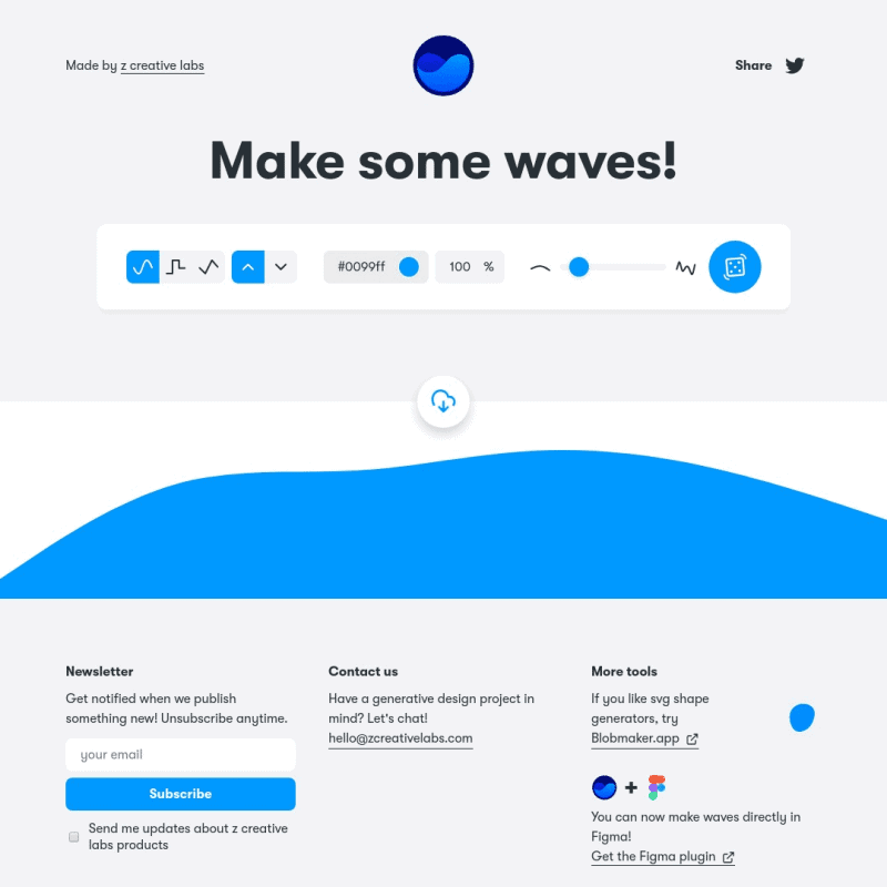 Create SVG waves for your next design