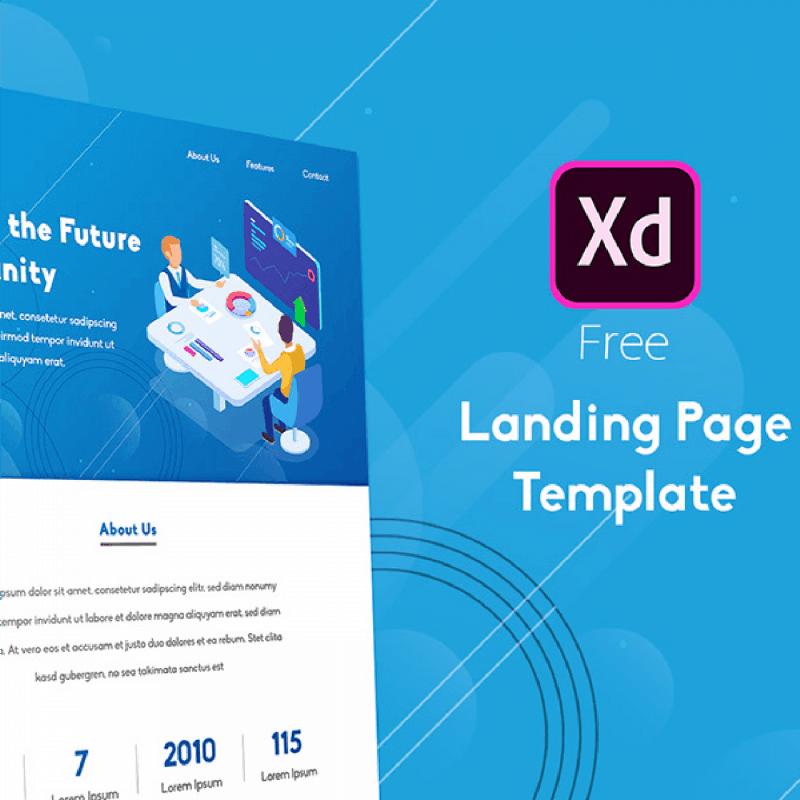 adobe-xd-Landing-page