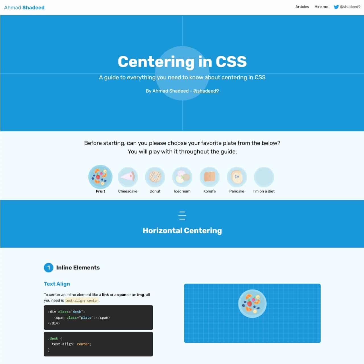 centering css