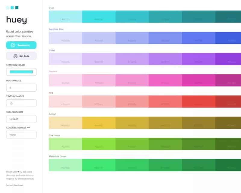 huey colors